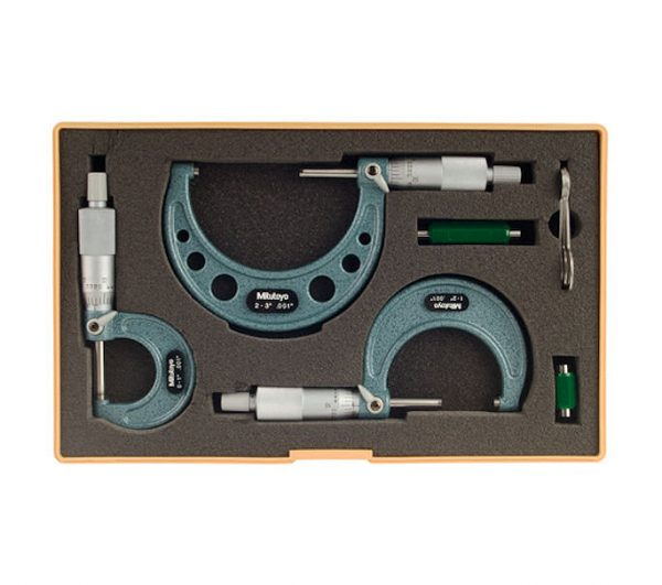 Mitutoyo 103-922-99 Outside Micrometer Set of 3