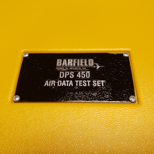 DPS 450 Air Data Test Set Name Plate